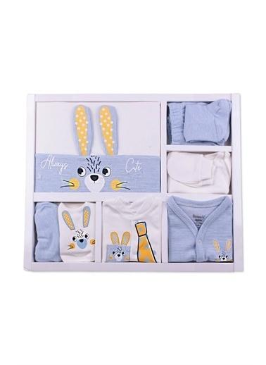 Özgüner Oyuncak Miniworld Tavşanlı 10'lu Erkek Bebek Hastane Çıkışı Mavi